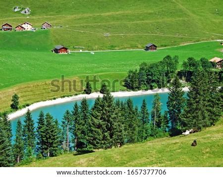Gänglesee Lake (Ganglesee or Gaenglesee) on the Valünerbach (Valunerbach or Valuenerbach) stream and in the Saminatal alpine valley - Steg, Liechtenstein #1657377706