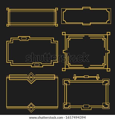 set of art deco frame #1657494394