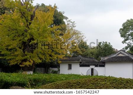 Architecture of Quanfu Lecture Temple, Zhouzhuang ancient town, Suzhou City, Jiangsu Province, China #1657542247