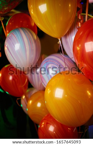 multi-colored balloons. Balloons of many colours.bunch of balloons. Birthday Party Balloons; rainbow colors; colorful abstract multicolor image for happy birthday card.