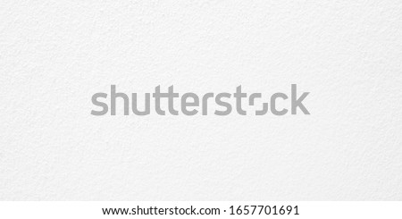 Wide image of cement wall texture used for paper background. White color concrete texture, Empty space. #1657701691