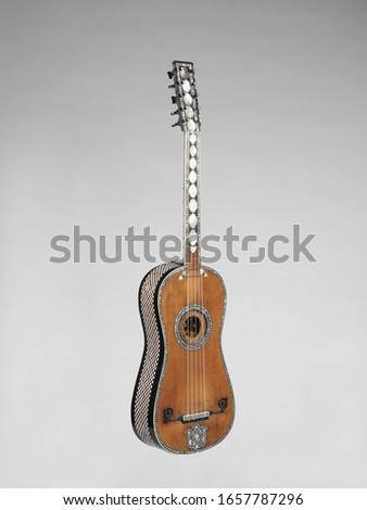 German Guitar, Chordophone-Lute-plucked-fretted, front, Musical Instruments #1657787296