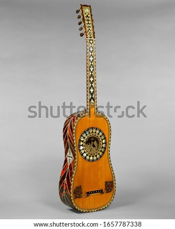 France Guitar, Chordophone-Lute-plucked-fretted, Musical Instruments #1657787338