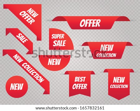 Sale banner template set. Price tags. Vector illustration EPS10 #1657832161