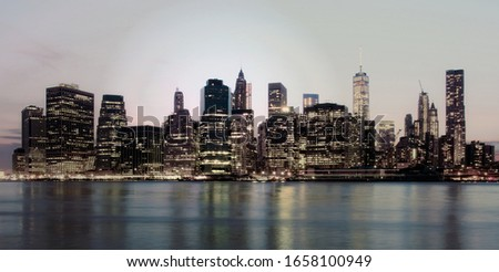 Manhattan skyline, New York, USA, circa May 2015