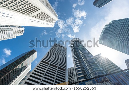 modern office building in singapore Royalty-Free Stock Photo #1658252563