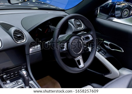 Console luxury super car with the steering wheel #1658257609