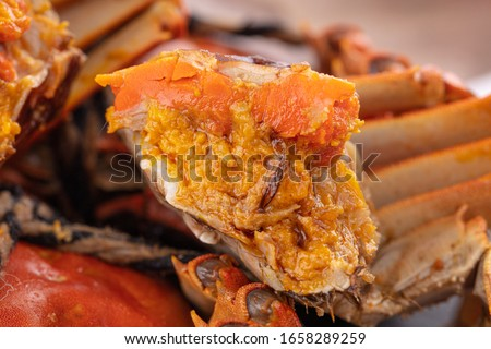 Chinese food, hairy crabs in Yangcheng Lake