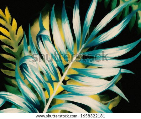 Modern Retro Abstract Floral Background  #1658322181