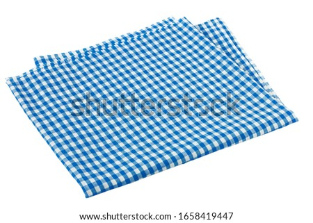 Placemat, Scotch pattern, blue-white on white background