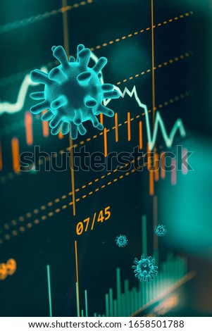 Graphs representing the stock market crash caused by the Coronavirus #1658501788