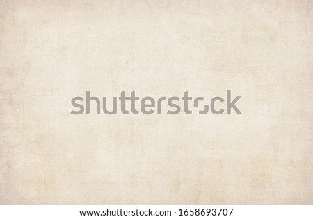 BLANK PAPER TEXTURE BACKGROUND, NEWSPAPER PATTERN, LIGHT BEIGE GRUNGE TEXTURED TEMPLATE Royalty-Free Stock Photo #1658693707