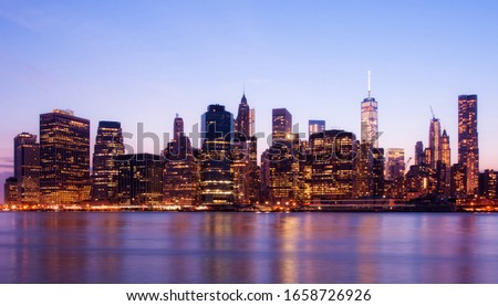 Manhattan skyline, New York, USA, circa May 2015