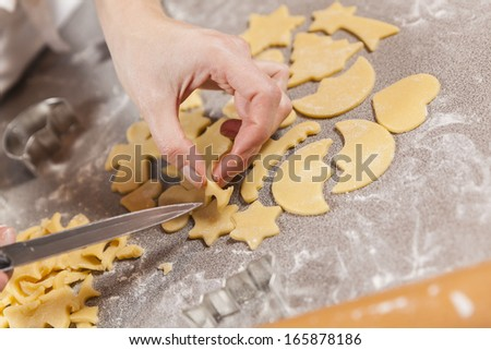 preparing cookies for christmas #165878186