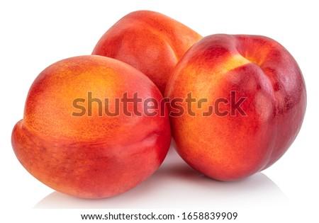 Nectarine fruit isolated on white background.Clipping Path. Royalty-Free Stock Photo #1658839909