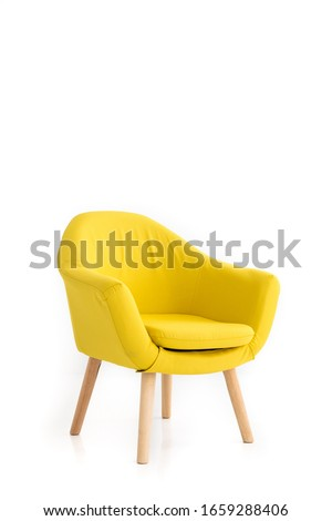 modern armchair on white background #1659288406