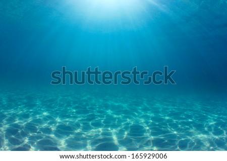 Ocean background underwater #165929006