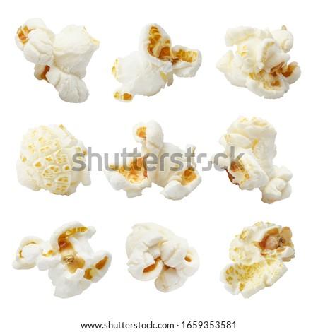 Set of delicious popcorn, isolated on white background Royalty-Free Stock Photo #1659353581