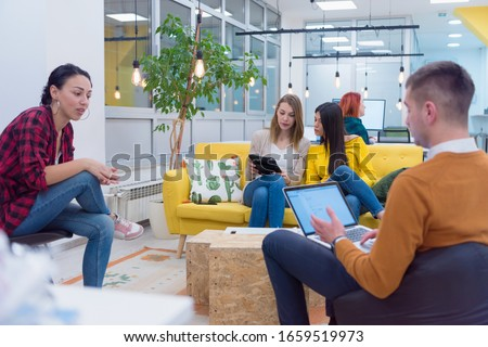 Corporate Meeting Room. Confident and Handsom Executive Director Decisively  Delivers Report to a Board of Executives about Company's Record Breaking Revenue. Multiethnic business corporate concept.