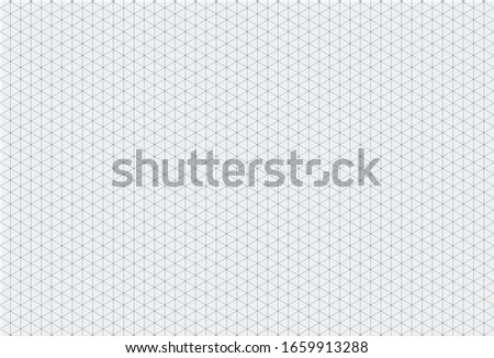 White Isometric Grid Paper Background with Grains.