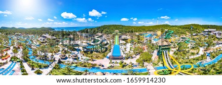 An Thoi, Phu Quoc, Vietnam - Jan 29th 2019: Sun World Hon Thom Nature Park, an Amusement and Recreational Water Park Reached by Sea-Crossing Cable Car from Phu Quoc Island, Vietnam, Southeast Asia. #1659914230