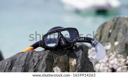 Snorkel is a device that should be carried with you every time when you go diving. #1659914263