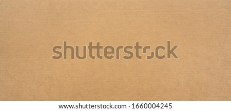 Brown paper texture for background. Seamless surface cardboard box for design. Backdrop recycle paper product or education concept. #1660004245