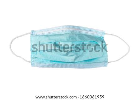 Medical mask. Medical protective masks isolated on white background. Healthcare and medical concept. Protective face mask or medical mask. Protective shielding bandage #1660061959