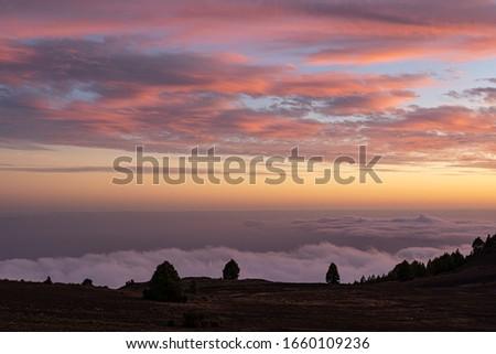 Sunrise sky pic Canary Islands