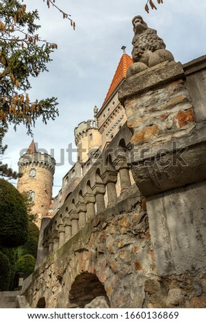 Bory Castle in Szekesfehervar, Hungary. Former home of the sculptor and architect Jeno Bory and his family. #1660136869
