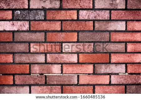 Brick wall with red brick, red brick background. Royalty-Free Stock Photo #1660485136
