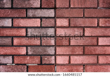 Brick wall with red brick, red brick background. Royalty-Free Stock Photo #1660485157