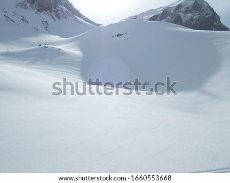 beautiful skitouring mountain terrain in winter landscape tennengebirge in austrian alps #1660553668