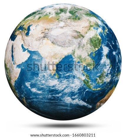 Planet Earth globe isolated. Elements of this image furnished by NASA. 3d rendering #1660803211