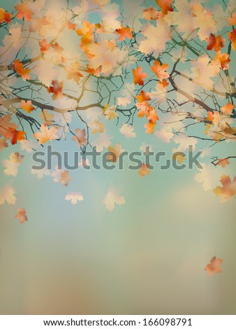 Abstract retro autumn background. And also includes EPS 10 vector #166098791