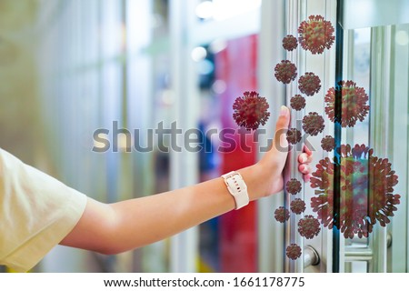Corona virus 2019,the most transmission of virus or bacterai from hand touch concept for background healthcare and medical ,washing hand Royalty-Free Stock Photo #1661178775