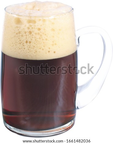 a glass of kvass close-up on a white background #1661482036