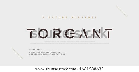 Abstract minimal modern alphabet fonts. Typography technology electronic digital music future creative font. vector illustration #1661588635