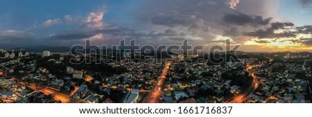 Beautiful view of Kota Kinabalu city. #1661716837