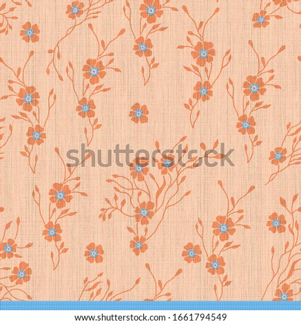 abstract flower pattern background fabric texture #1661794549