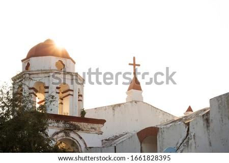 View of La Antigua's church Parroquia del Santo Cristo del Buen Viaje, located in Veracruz, Mexico. #1661828395