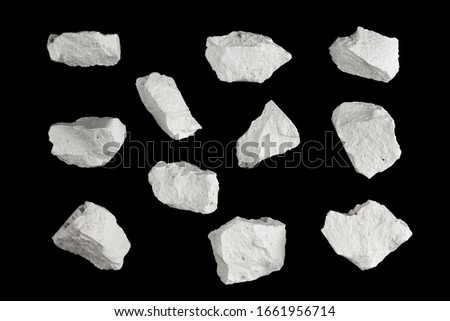 Rock stone broken explosion split piece isolated on black background photo object hi resolution design