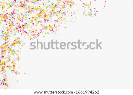 colored sprinkles, sprinkle for Easter cake on a white background, color background Royalty-Free Stock Photo #1661994262