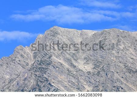 Closeup of sunny Grimming Peak, Dachstein Mountains (Dachsteingebirge), Alps (Alpes, Alpen, Alpi, Alps, Alpe), Styria (Steiermark), Austria (Österreich)  #1662083098
