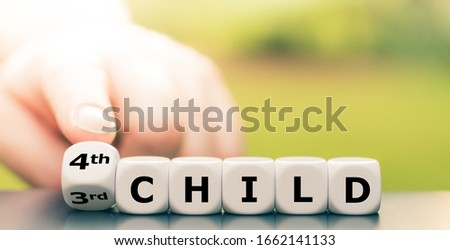 """Expecting a second child. Hand turns dice and changes the expression """"3rd child"""" to """"4th child"""". #1662141133"""