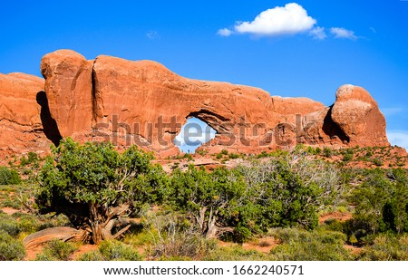 Red rock canyon arch landscape. Arch red rock canyon desert. Red rokc canyon desert arch. Red rock canyon arch #1662240571