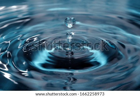 Isolated one or two water drops Royalty-Free Stock Photo #1662258973