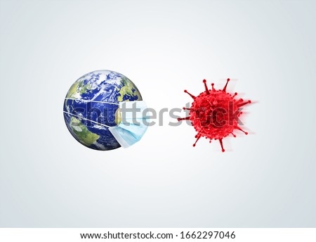 Corona virus concept. Coronavirus New Cases Increase Globally. COVID-19 outbreak on whole world concept. #1662297046