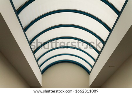 Vaulted glass roof over arcade #1662311089