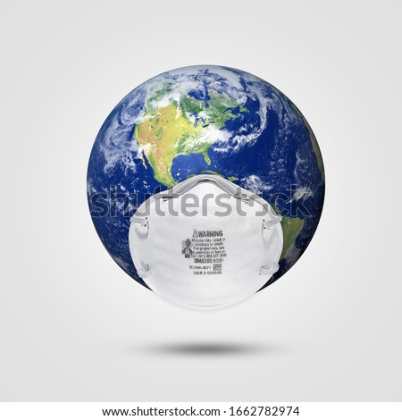 world Corona virus attack concept. world/earth fight against Corona virus. Concept of fight against virus, danger and public health risk disease, isolated ,pollution, world pollution, COVID 19, virus Royalty-Free Stock Photo #1662782974